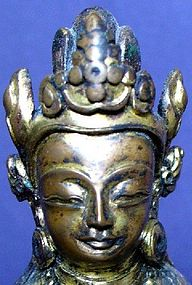 Nepalese Gilt Bronze Padmapani
