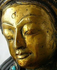 Tibetan Bronze of the Green Tara