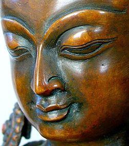 Nepalese Bronze of Akshobya