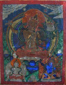 Small Tibetan Buddhist Thangka Painting