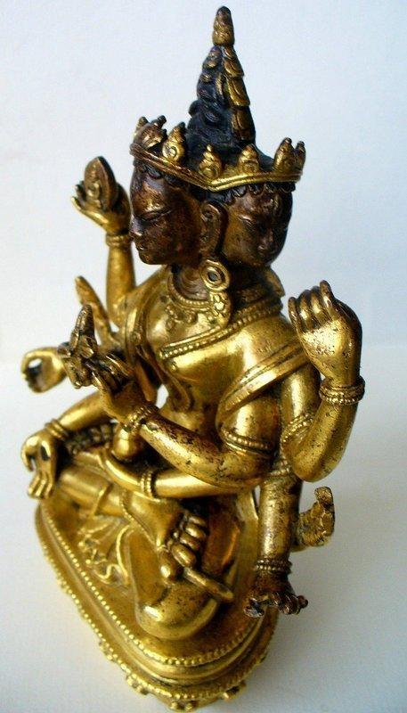 18th Century Tibeto Chinese bronze of Usnisavijaya