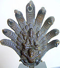 Nepalese Bronze of Vishnu riding Garuda