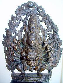 18th century Nepalese Bronze of Visvarupa
