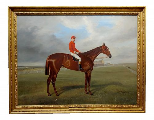 Benjamin Cam Norton 1883 Jockey on His Race Horse -Oil Painting
