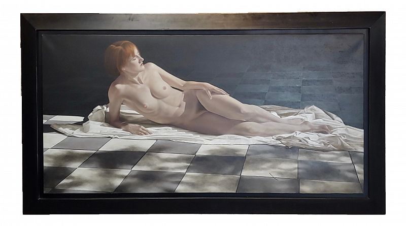 Peter Sorrel - Fabulous Gothic Nude Female - Oil Painting