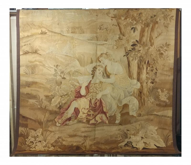 Circa 1840s French Aubusson Tapestry