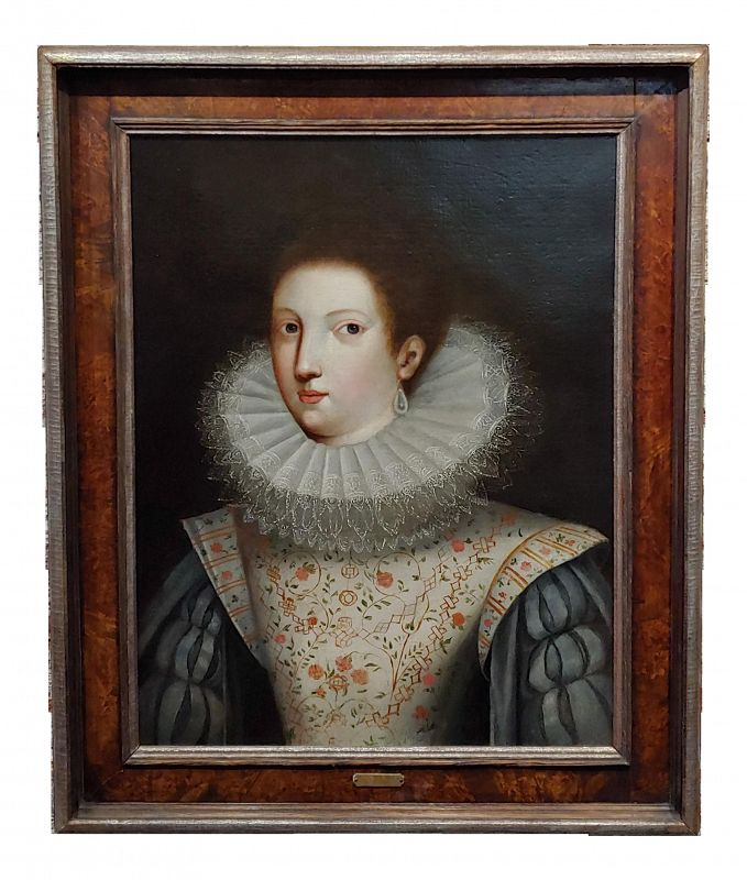 16th/17th Century Century Oil Painting, Portrait of an Aristocratic Woman W/A Ruff Collar