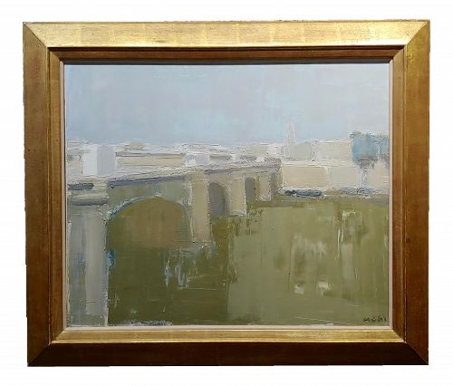 Roger Muhl Bridge Across the River Seine, Paris Oil Painting
