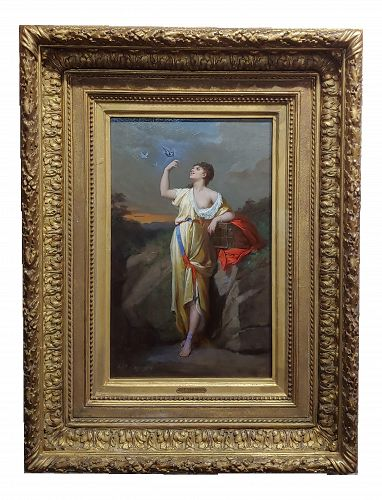 Hippolyte Lozenges - Lady Liberty -Fabulous 19th Century French Oil Painting