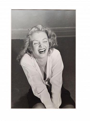 Philippe Halsman -Marilyn Monroe Laughing-1949 Silver Gelatin-Signed