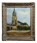 Elise Maclet -Saint-Germain-Des-Prés, Paris Oldest Church-Oil Painting
