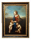 Madonna With Child -17th Century Italian Old Master - Oil Painting