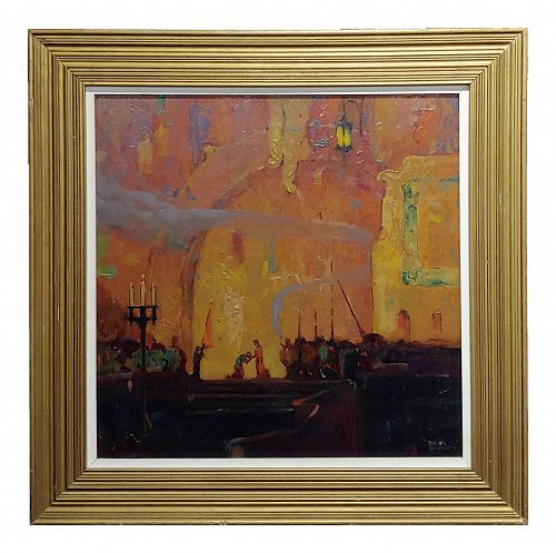 Dana Bartlett - the Crusaders in Venice -Oil Painting C1930s