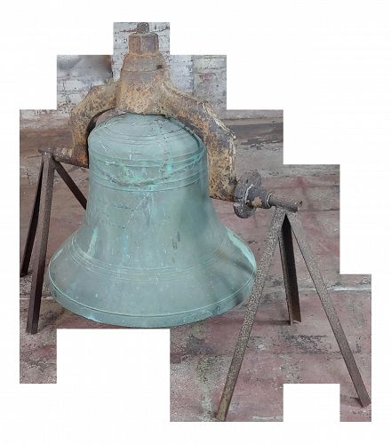1886 Antique F. A. William & Son Foundry Plantation Bronze Bell