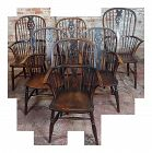 18th Century George III Windsor Chairs - Set of 6