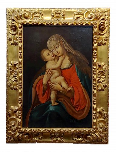 18th Century Italian Old Master - Oil Painting, Madonna With Child