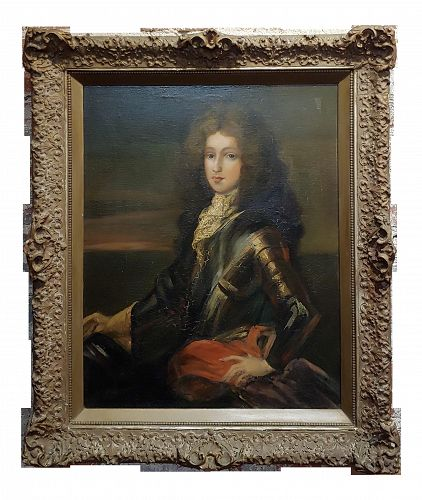 17th Century Baroque Oil Painting, Portrait of a Nobleman in Armor