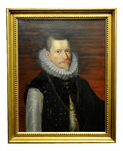 18th Century Portrait of Albert, Archduke of Austria After Rubens Oil Painting