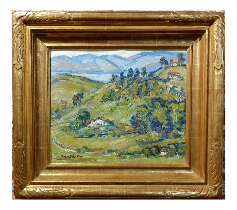 """Donna Schuster """"View of Silverlake,CA"""" Oil Painting"""