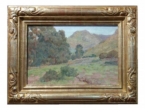 Charles Fries Eucalyptus Among the Hills Oil Painting