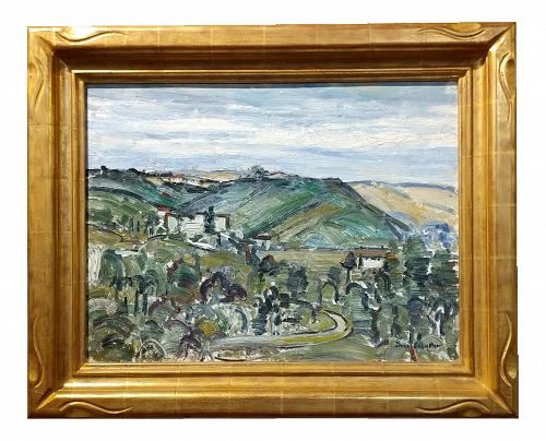Donna Schuster - View of the Hollywood Hills - Oil Painting