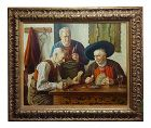Otto Eichener -The Card Players - Oil Painting