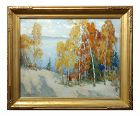 Isabel Hunter Carmel Landscape Impressionist Oil Painting