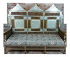Mother of Pearl Inlaid Syrian Sofa