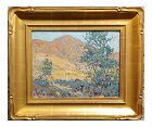 Edwin Roscoe Shrader Green Trees Landscape Impressionist Oil Painting