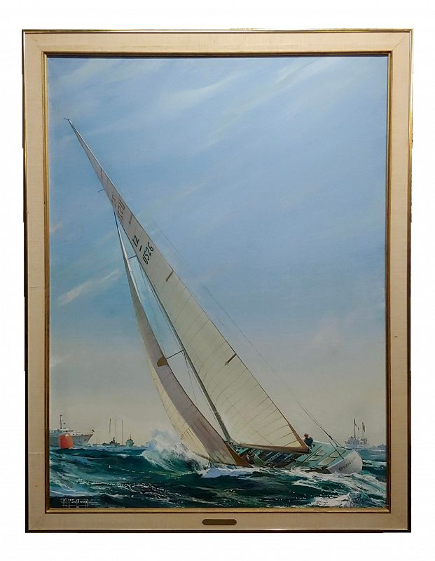 Kipp Soldwedel - Regatta Victory 1974 - Sailing Race Yacht - Oil Painting
