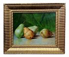 Theodore Coquelin,1880s Still Life of Pears-French Impressionist Oil Painting
