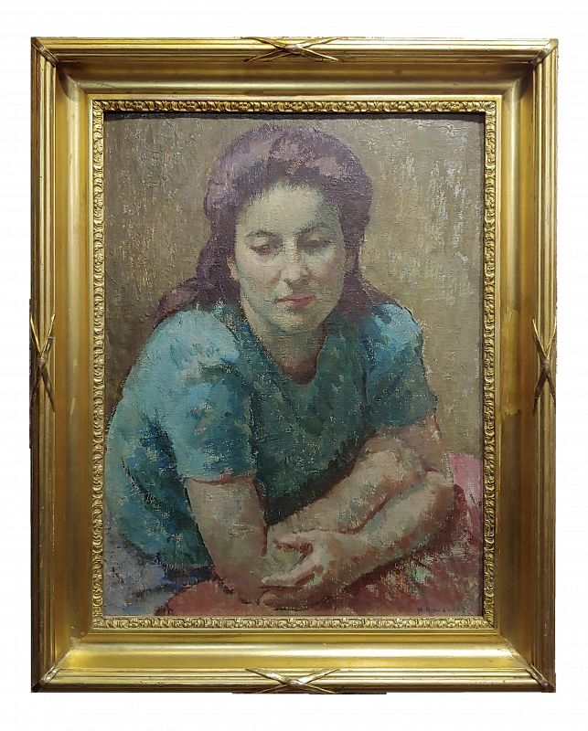 Mischa Ashkenazy -Portrait of a Woman - Oil Painting