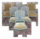 19th Century French Painted Dining Chairs - Set of 6