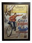 1896 Antique Gaston Fanty-Lescure French Bicycle Poster Poster