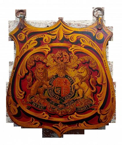 19th Century Vintage English Royal Coat of Arm