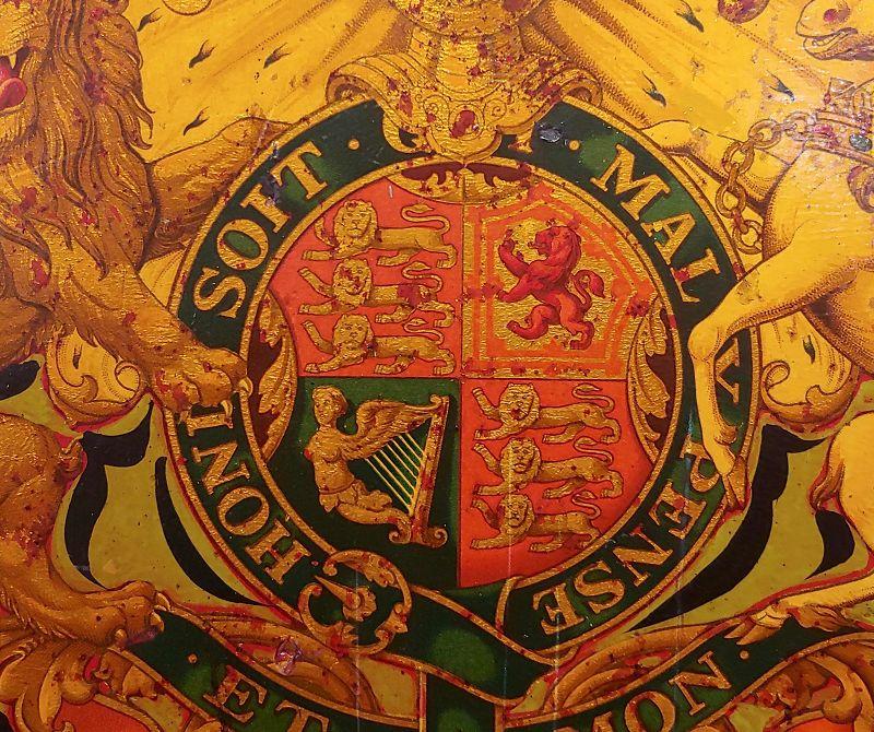 19th Century Vintage English Royal Coat of Arm