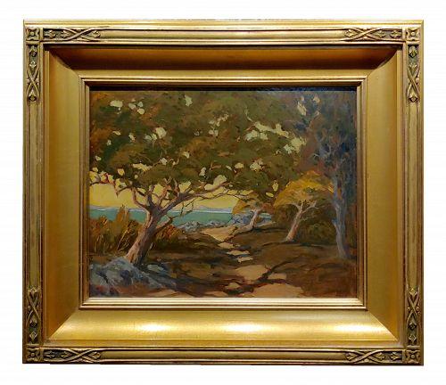 Jack Cassinetto West of the Berkley Marina-California Plein Air Oil Painting