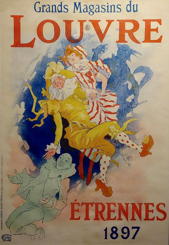 Grands Magasins Du Louvre -Original 1897 French Poster by Jules Cheret