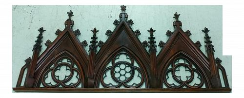 18th Century Gothic Carved Wooden Over Door