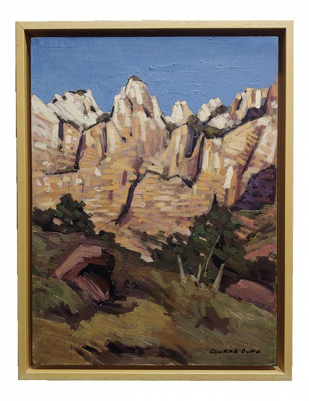 Conrad Buff- Rugged Cliffs Landscape -Oil Painting