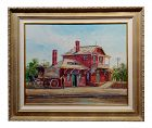 Ben Abril Santa Anita Station Oil Painting