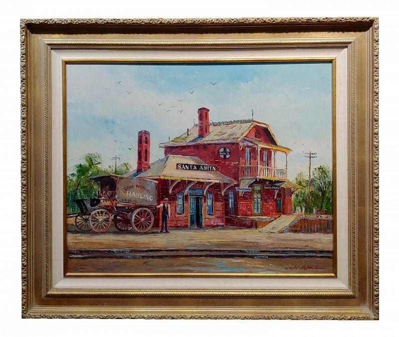 Ben Abril Santa Anita Station Oil Painting