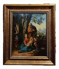 1740s Antique Italian Holy Family Oil Painting