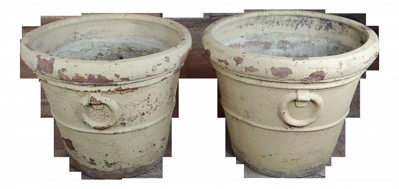 19th Century Antique Large Terra-Cotta Planters - A Pair