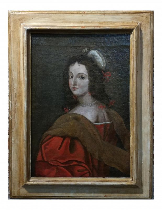 "17th Century ""Master Portrait of a Elegant Woman"" Oil Painting"