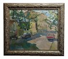 Contemporary Gavlin Moscow Street Scene-Russian Impressionist Oil Painting