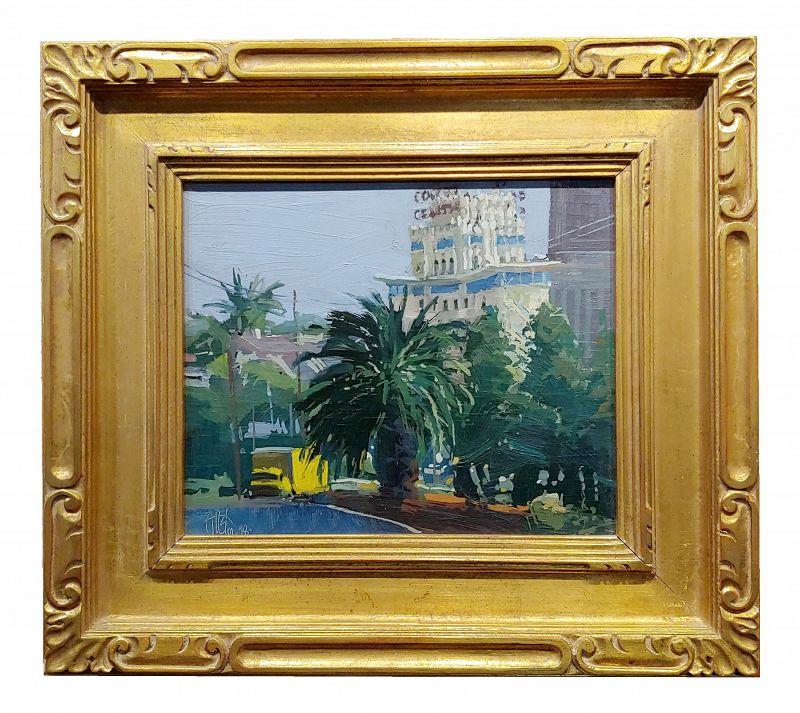 Ken Auster 1998 Los Angeles Streets - Oil Painting