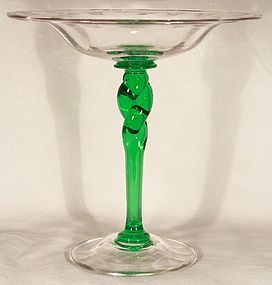 Steuben Compote with Twist Stem