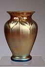 Decorated Gold Aurene Vase