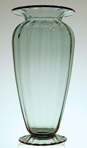 Steuben Antique Green Vase
